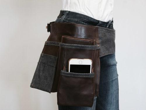 Batavia-M120-Jeans-en-leren horecariem VAN-SYB zijkant