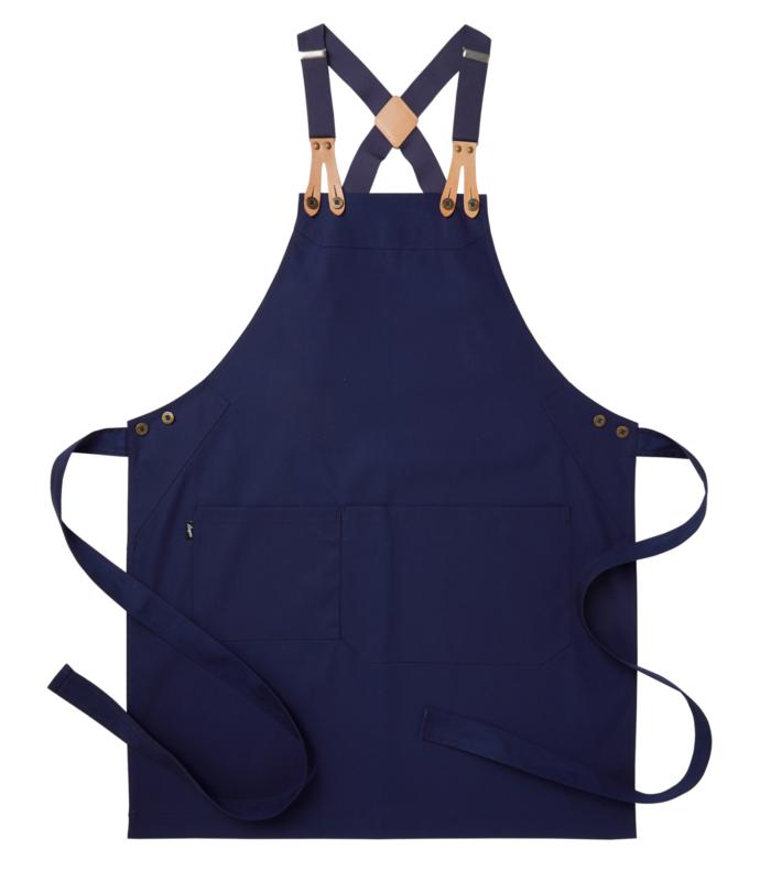marine blauw schort met bretel