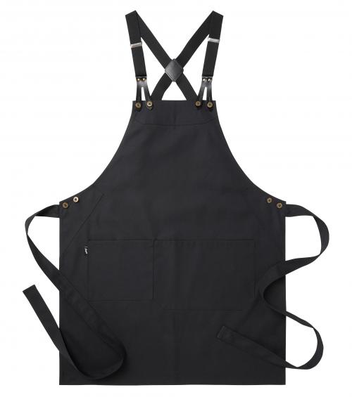 zwart schort met bretel