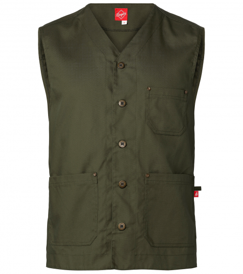 Overjas gilet heren in canvas