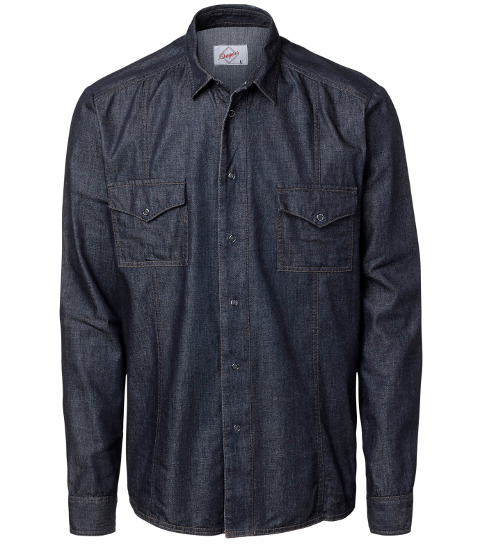 Heren overhemd denim