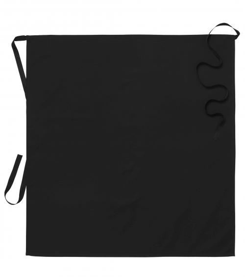 katoenen sloof Zwart Wit ca. 95 x 100 cm