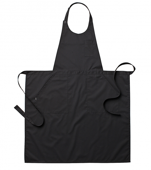 Sommeliersschort zwart ca. 85 x 100 cm