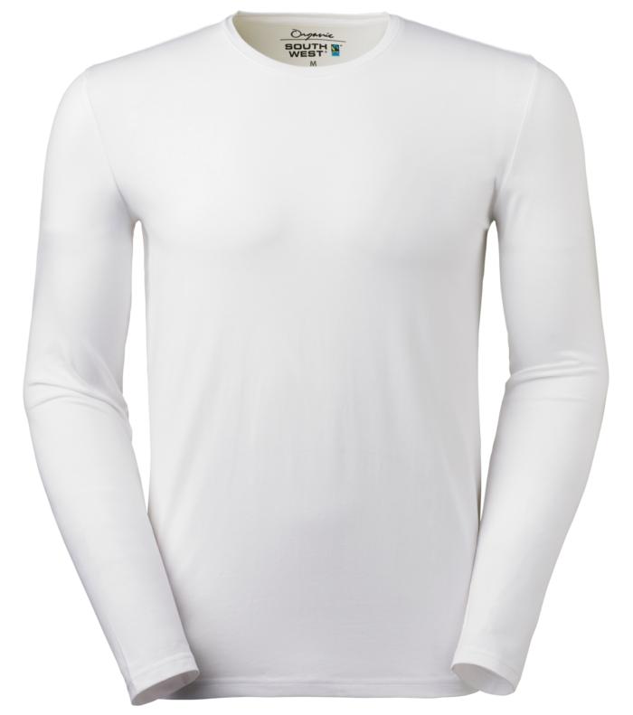 T-shirt heren met lange mouw en ronde hals